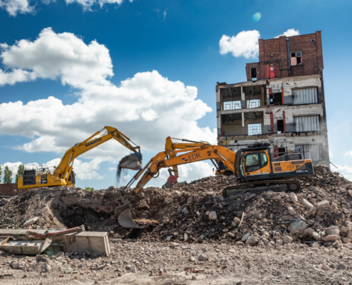 Wolverhampton Demolition Site Photography